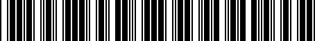 Barcode for 17A071126A
