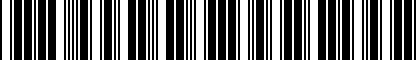 Barcode for 3B0071701
