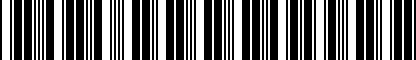 Barcode for DRG000980